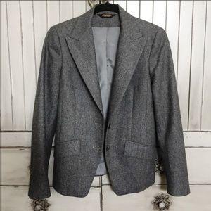 Paul Stuart Gray Wool Blazer Coat 4